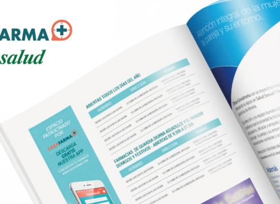 Cazafarma patrocinador de un espacio en la Revista Mirasalud