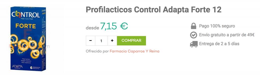 preservativos control adapta forte farmacias.com