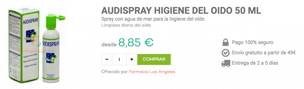audispray higiene oído farmacias.com