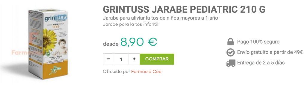 grintuss jarabe pediatric farmacias.com