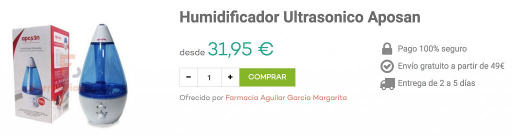 humidificador bebé aposan farmacias.com
